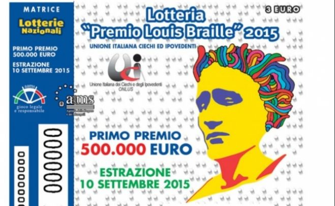 Lotteria Premio Louis Braille 2016