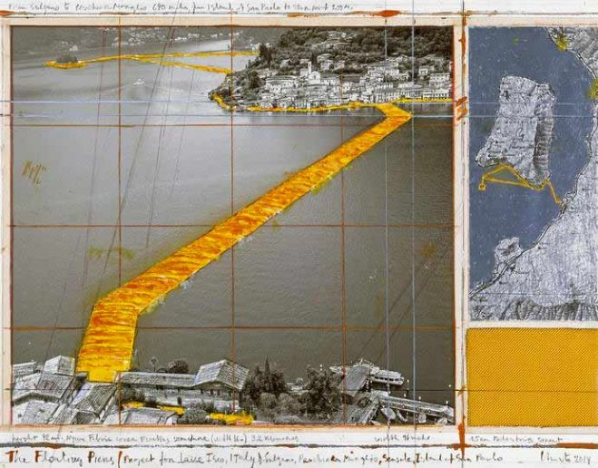 Christo, The Floating Piers. Progetto per il Lago d'Iseo