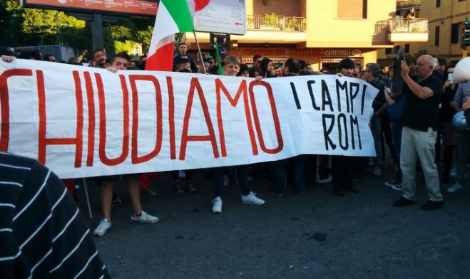 Incidente Roma. Tensione al presidio di Casapound